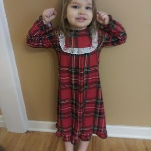 Peas & Carrots - Kids Flannel Christmas Nightgown